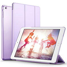 Leather Case Stands Flip Cover L01 for Apple iPad Air Purple