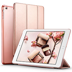 Leather Case Stands Flip Cover L01 for Apple iPad Air Rose Gold