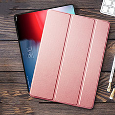Leather Case Stands Flip Cover L01 for Apple iPad Pro 12.9 (2018) Pink
