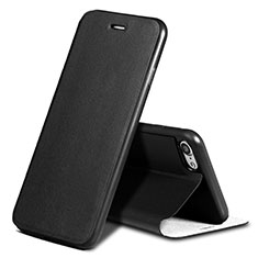 Leather Case Stands Flip Cover L01 for Apple iPhone SE (2020) Black