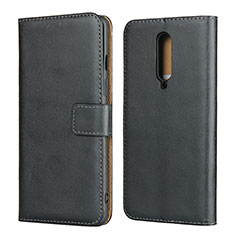 Leather Case Stands Flip Cover L01 for OnePlus 8 Black