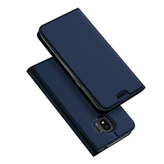 Leather Case Stands Flip Cover L01 for Samsung Galaxy J2 Pro (2018) J250F Blue
