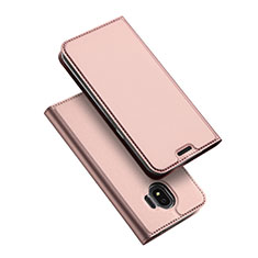 Leather Case Stands Flip Cover L01 for Samsung Galaxy J2 Pro (2018) J250F Rose Gold