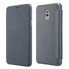 Leather Case Stands Flip Cover L01 for Samsung Galaxy J7 Plus Black
