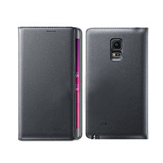 Leather Case Stands Flip Cover L01 for Samsung Galaxy Note Edge SM-N915F Black