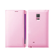 Leather Case Stands Flip Cover L01 for Samsung Galaxy Note Edge SM-N915F Pink