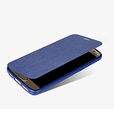 Leather Case Stands Flip Cover L01 for Samsung Galaxy S7 G930F G930FD Blue