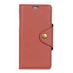 Leather Case Stands Flip Cover L01 Holder for Alcatel 1 Brown