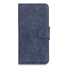 Leather Case Stands Flip Cover L01 Holder for Alcatel 1S (2019) Blue