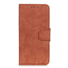 Leather Case Stands Flip Cover L01 Holder for Alcatel 1S (2019) Brown