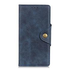 Leather Case Stands Flip Cover L01 Holder for Alcatel 3 (2019) Blue