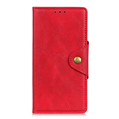 Leather Case Stands Flip Cover L01 Holder for Alcatel 3 (2019) Red