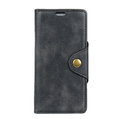 Leather Case Stands Flip Cover L01 Holder for Alcatel 3 Black