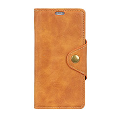 Leather Case Stands Flip Cover L01 Holder for Alcatel 3 Orange