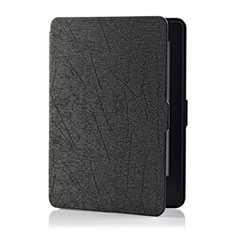 Leather Case Stands Flip Cover L01 Holder for Amazon Kindle 6 inch Black