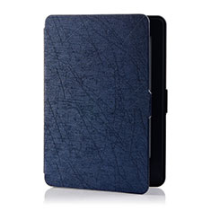 Leather Case Stands Flip Cover L01 Holder for Amazon Kindle 6 inch Blue