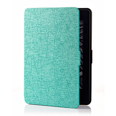Leather Case Stands Flip Cover L01 Holder for Amazon Kindle 6 inch Cyan