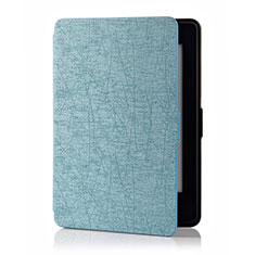 Leather Case Stands Flip Cover L01 Holder for Amazon Kindle 6 inch Sky Blue