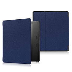 Leather Case Stands Flip Cover L01 Holder for Amazon Kindle Oasis 7 inch Blue