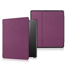 Leather Case Stands Flip Cover L01 Holder for Amazon Kindle Oasis 7 inch Purple