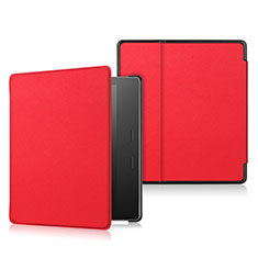 Leather Case Stands Flip Cover L01 Holder for Amazon Kindle Oasis 7 inch Red