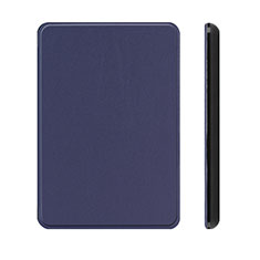 Leather Case Stands Flip Cover L01 Holder for Amazon Kindle Paperwhite 6 inch Blue