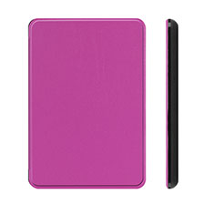 Leather Case Stands Flip Cover L01 Holder for Amazon Kindle Paperwhite 6 inch Purple