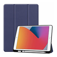 Leather Case Stands Flip Cover L01 Holder for Apple iPad 10.2 (2020) Blue