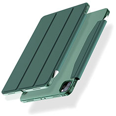 Leather Case Stands Flip Cover L01 Holder for Apple iPad Pro 12.9 (2020) Green