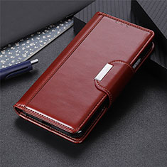 Leather Case Stands Flip Cover L01 Holder for Apple iPhone 12 Brown