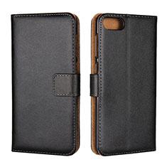 Leather Case Stands Flip Cover L01 Holder for Asus Zenfone 4 Max ZC554KL Black