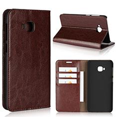 Leather Case Stands Flip Cover L01 Holder for Asus Zenfone 4 Selfie Pro Brown