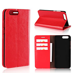 Leather Case Stands Flip Cover L01 Holder for Asus Zenfone 4 ZE554KL Red