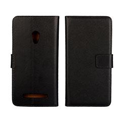 Leather Case Stands Flip Cover L01 Holder for Asus Zenfone 5 Black