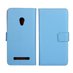 Leather Case Stands Flip Cover L01 Holder for Asus Zenfone 5 Sky Blue