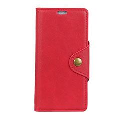 Leather Case Stands Flip Cover L01 Holder for Asus Zenfone 5 ZE620KL Red