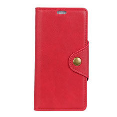 Leather Case Stands Flip Cover L01 Holder for Asus Zenfone 5 ZS620KL Red