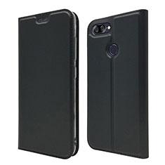 Leather Case Stands Flip Cover L01 Holder for Asus Zenfone Max Plus M1 ZB570TL Black
