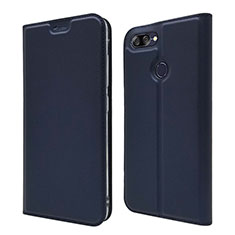 Leather Case Stands Flip Cover L01 Holder for Asus Zenfone Max Plus M1 ZB570TL Blue