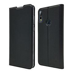 Leather Case Stands Flip Cover L01 Holder for Asus Zenfone Max Pro M2 ZB631KL Black