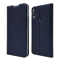 Leather Case Stands Flip Cover L01 Holder for Asus Zenfone Max Pro M2 ZB631KL Blue