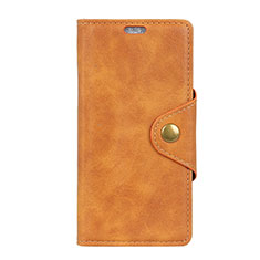 Leather Case Stands Flip Cover L01 Holder for Asus Zenfone Max ZB555KL Orange