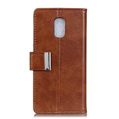Leather Case Stands Flip Cover L01 Holder for Asus ZenFone V Live Brown