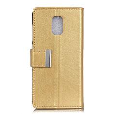 Leather Case Stands Flip Cover L01 Holder for Asus ZenFone V500KL Gold