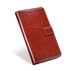 Leather Case Stands Flip Cover L01 Holder for Blackberry KEYone Brown