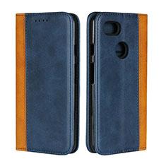 Leather Case Stands Flip Cover L01 Holder for Google Pixel 3 XL Blue