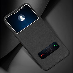 Leather Case Stands Flip Cover L01 Holder for Huawei Enjoy 10e Black