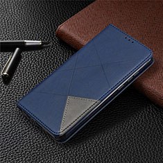 Leather Case Stands Flip Cover L01 Holder for Huawei Honor 9A Blue