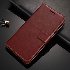 Leather Case Stands Flip Cover L01 Holder for Huawei Honor 9X Brown
