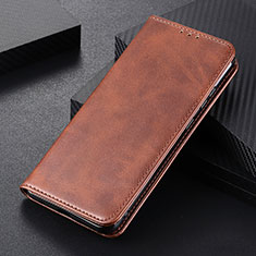 Leather Case Stands Flip Cover L01 Holder for Huawei P Smart (2020) Brown